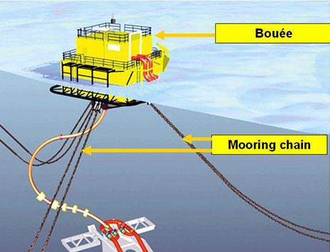 Mooring chain buoy